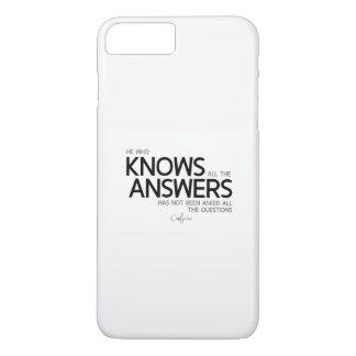 Capa iPhone 8 Plus/7 Plus CITAÇÕES: Confucius: Sabe todas as respostas
