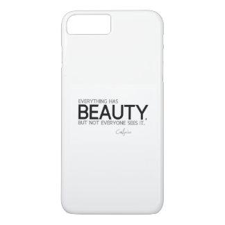 Capa iPhone 8 Plus/7 Plus CITAÇÕES: Confucius: Tudo tem a beleza