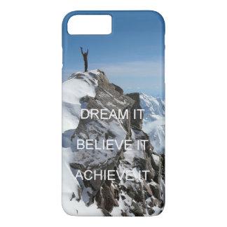 Capa iPhone 8 Plus/7 Plus citações da inspiração da motivação do montanhista