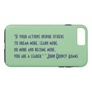 Capa iPhone 8 Plus/7 Plus Citações da liderança de John Quincy Adams