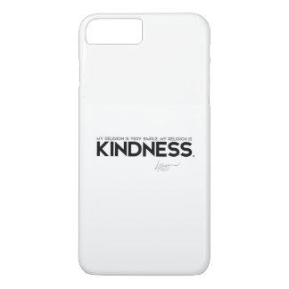 Capa iPhone 8 Plus/7 Plus CITAÇÕES: Dalai Lama - minha religião é bondade