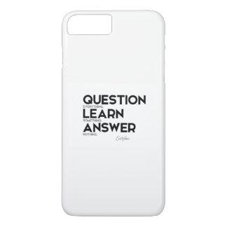 Capa iPhone 8 Plus/7 Plus CITAÇÕES: Euripides: Pergunta tudo