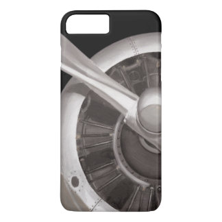 Capa iPhone 8 Plus/7 Plus Close up da hélice de avião