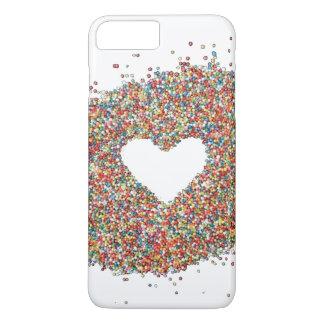 Capa iPhone 8 Plus/7 Plus Cobrir do telefone do design do coração dos