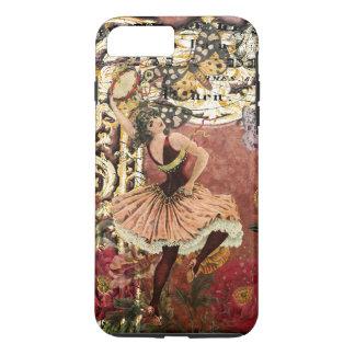 Capa iPhone 8 Plus/7 Plus Colagem aciganada cor-de-rosa do francês do