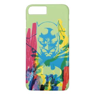 Capa iPhone 8 Plus/7 Plus Colagem de néon do marcador de Batman