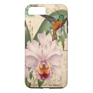 Capa iPhone 8 Plus/7 Plus Colibri e orquídea