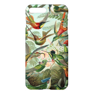 Capa iPhone 8 Plus/7 Plus Colibris de Haeckel do vintage