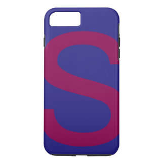 Capa iPhone 8 Plus/7 Plus Combinação de cor diferente bonito do alfabeto s