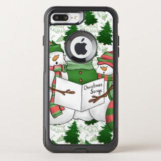 Capa iPhone 8 Plus/7 Plus Commuter OtterBox 3 Carolers do boneco de neve