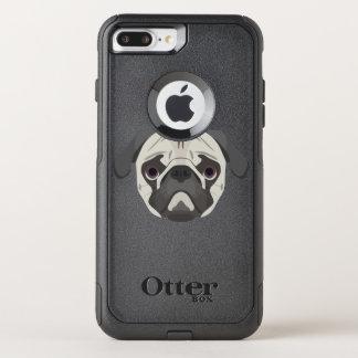 Capa iPhone 8 Plus/7 Plus Commuter OtterBox A ilustração persegue o Pug da cara
