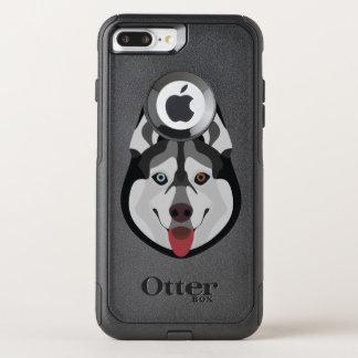 Capa iPhone 8 Plus/7 Plus Commuter OtterBox A ilustração persegue o rouco Siberian da cara
