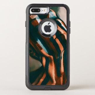 Capa iPhone 8 Plus/7 Plus Commuter OtterBox A senhora pintada dos tigres e das ondas