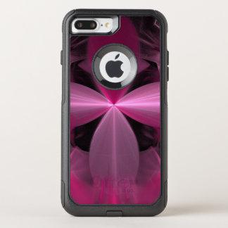 Capa iPhone 8 Plus/7 Plus Commuter OtterBox Abstrato cor-de-rosa de roda das pétalas da flor