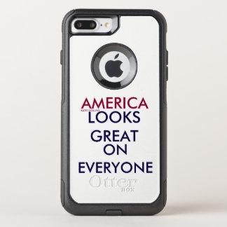 CAPA iPhone 8 PLUS/7 PLUS COMMUTER OtterBox AMÉRICA OLHA GRANDE EM TODOS