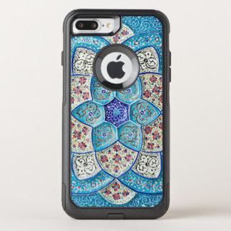 Capa iPhone 8 Plus/7 Plus Commuter OtterBox Azul de turquesa marroquino tradicional, branco,