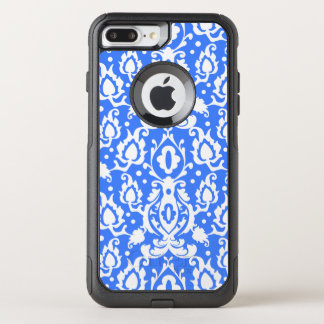 Capa iPhone 8 Plus/7 Plus Commuter OtterBox Azul marroquino e branco do damasco de Casbah