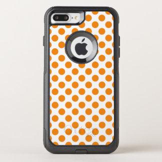 Capa iPhone 8 Plus/7 Plus Commuter OtterBox Bolinhas alaranjadas