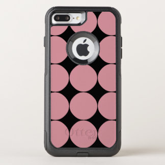 Capa iPhone 8 Plus/7 Plus Commuter OtterBox Bolinhas cor-de-rosa à moda modernas