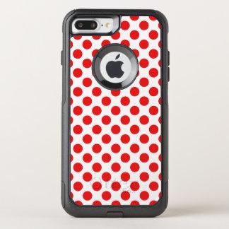 Capa iPhone 8 Plus/7 Plus Commuter OtterBox Bolinhas vermelhas