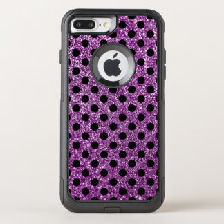 Capa iPhone 8 Plus/7 Plus Commuter OtterBox Brilho roxo e bolinhas pretas