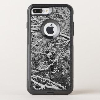 Capa iPhone 8 Plus/7 Plus Commuter OtterBox Camouflauge preto e branco mim capa de telefone