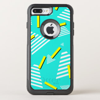 Capa iPhone 8 Plus/7 Plus Commuter OtterBox Capa de telefone da cerceta 90s-Inspired-Design