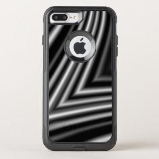 Capa iPhone 8 Plus/7 Plus Commuter OtterBox Chique branco preto à moda moderno do teste padrão