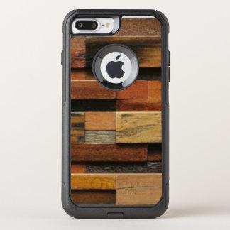 Capa iPhone 8 Plus/7 Plus Commuter OtterBox Colagem de madeira Textured multicolorido