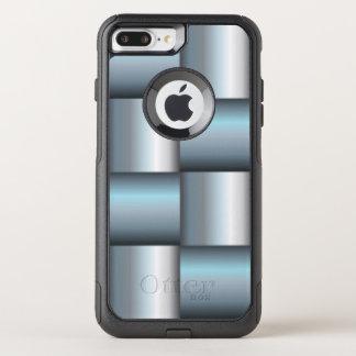 Capa iPhone 8 Plus/7 Plus Commuter OtterBox Colagem quadrada metálica da prata & da cerceta