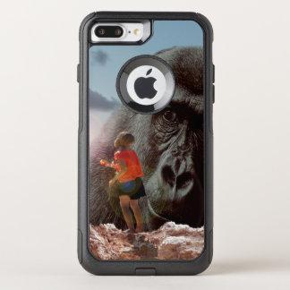 Capa iPhone 8 Plus/7 Plus Commuter OtterBox Compartilhando do almoço com um macaco,