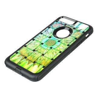 Capa iPhone 8 Plus/7 Plus Commuter OtterBox Cor brilhante design floral tecido do teste padrão