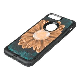 Capa iPhone 8 Plus/7 Plus Commuter OtterBox Crisântemo bonito do paraíso da laranja & do Aqua