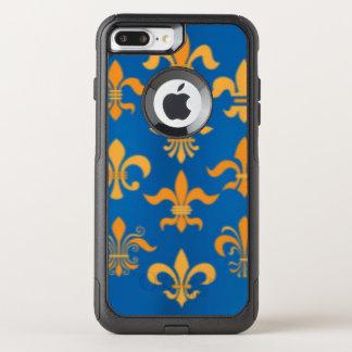 Capa iPhone 8 Plus/7 Plus Commuter OtterBox Design azul do impressão do teste padrão da flor
