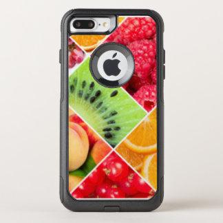 Capa iPhone 8 Plus/7 Plus Commuter OtterBox Design colorido do teste padrão da colagem da