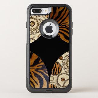 Capa iPhone 8 Plus/7 Plus Commuter OtterBox Design do teste padrão do impressão do tigre de
