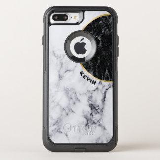 Capa iPhone 8 Plus/7 Plus Commuter OtterBox Design geométrico moderno de mármore branco &