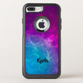 Capa iPhone 8 Plus/7 Plus Commuter OtterBox Design geométrico roxo & azul poligonal moderno