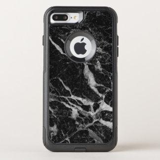 Capa iPhone 8 Plus/7 Plus Commuter OtterBox Design moderno GR5 do impressão de mármore preto
