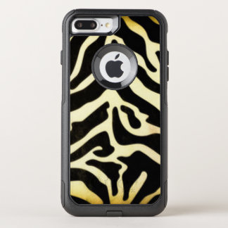 Capa iPhone 8 Plus/7 Plus Commuter OtterBox Design preto do impressão do teste padrão do tigre
