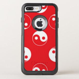 Capa iPhone 8 Plus/7 Plus Commuter OtterBox Design vermelho & branco do teste padrão de Yin