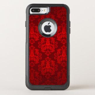 Capa iPhone 8 Plus/7 Plus Commuter OtterBox Design vermelho do impressão da cor damasco
