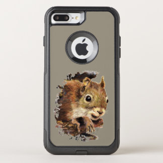 Capa iPhone 8 Plus/7 Plus Commuter OtterBox Esquilo bonito da arte animal que espreita para