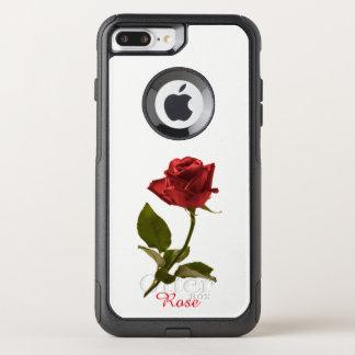 Capa iPhone 8 Plus/7 Plus Commuter OtterBox Flor cortada da rosa vermelha fotografia floral