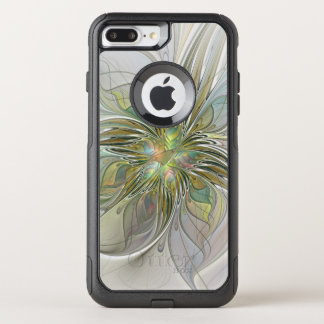 Capa iPhone 8 Plus/7 Plus Commuter OtterBox Flor moderna da arte do Fractal da fantasia floral