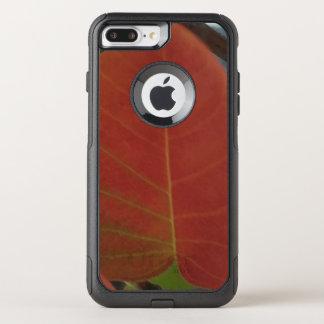 Capa iPhone 8 Plus/7 Plus Commuter OtterBox Folha do fogo vermelho