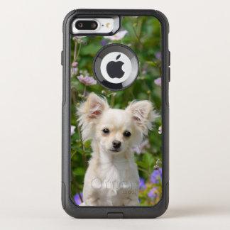 Capa iPhone 8 Plus/7 Plus Commuter OtterBox Foto de creme bonito do animal de estimação do