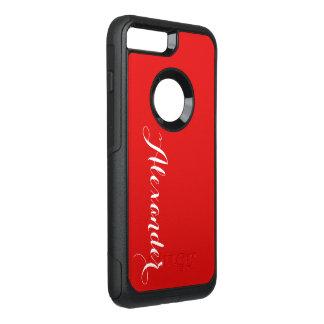 Capa iPhone 8 Plus/7 Plus Commuter OtterBox Fundo da cor de DIY, vermelho conhecido do