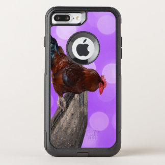 Capa iPhone 8 Plus/7 Plus Commuter OtterBox Galo Parker Nosy de Brown,