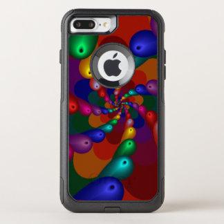 Capa iPhone 8 Plus/7 Plus Commuter OtterBox Gotas metálicas de roda da cor